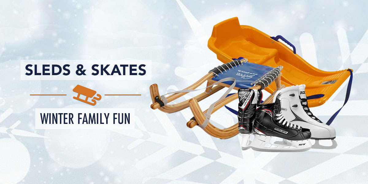 Sleds, Iceskates and more