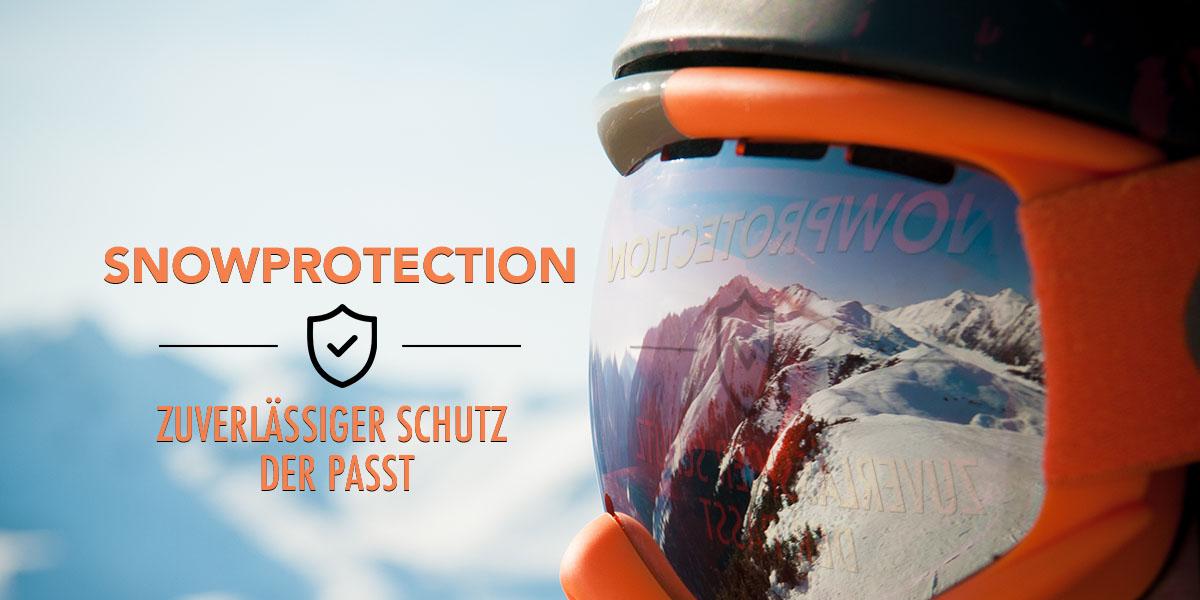 Skihelme, Brillen und Protektoren
