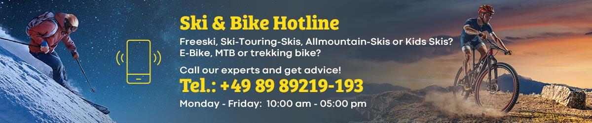 Ski und Bike Hotline Banner